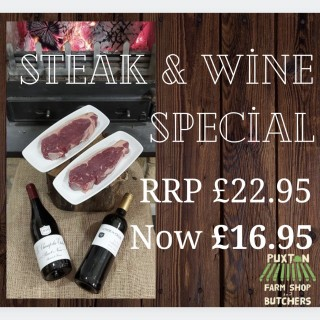 Steak & Wine Special with Pinot Noir (750ml)